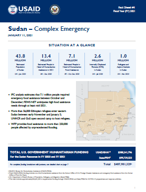 01.11.2021 - USG Sudan Complex Emergency Fact Sheet #1