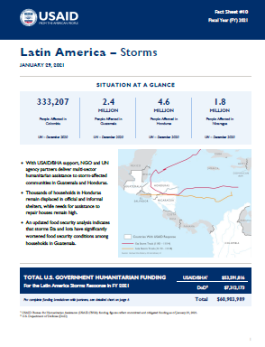 01.29.2021 - USAID-BHA Latin America Storms Fact Sheet #10