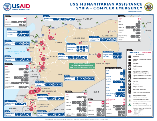 Syria Complex Emergency Program Map 01-15-2014