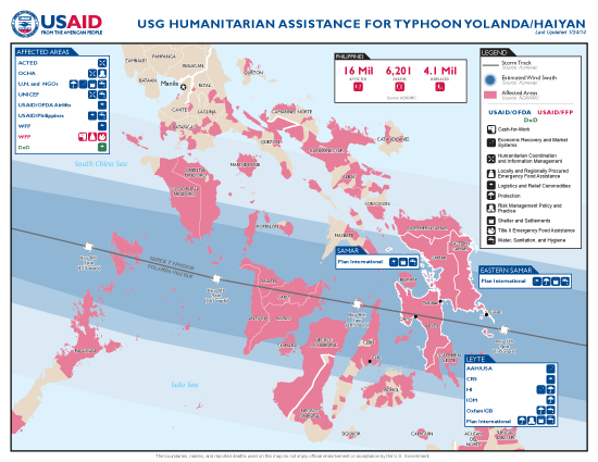 Typhoon Haiyan / Yolanda Map - 01/24/2014 (Click to view full-size map