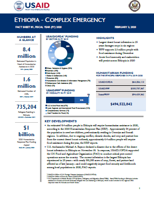02.03.20 - USAID-DCHA Ethiopia Complex Emergency Fact Sheet