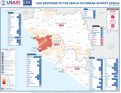 West Africa Ebola Map #27 March 31, 2015