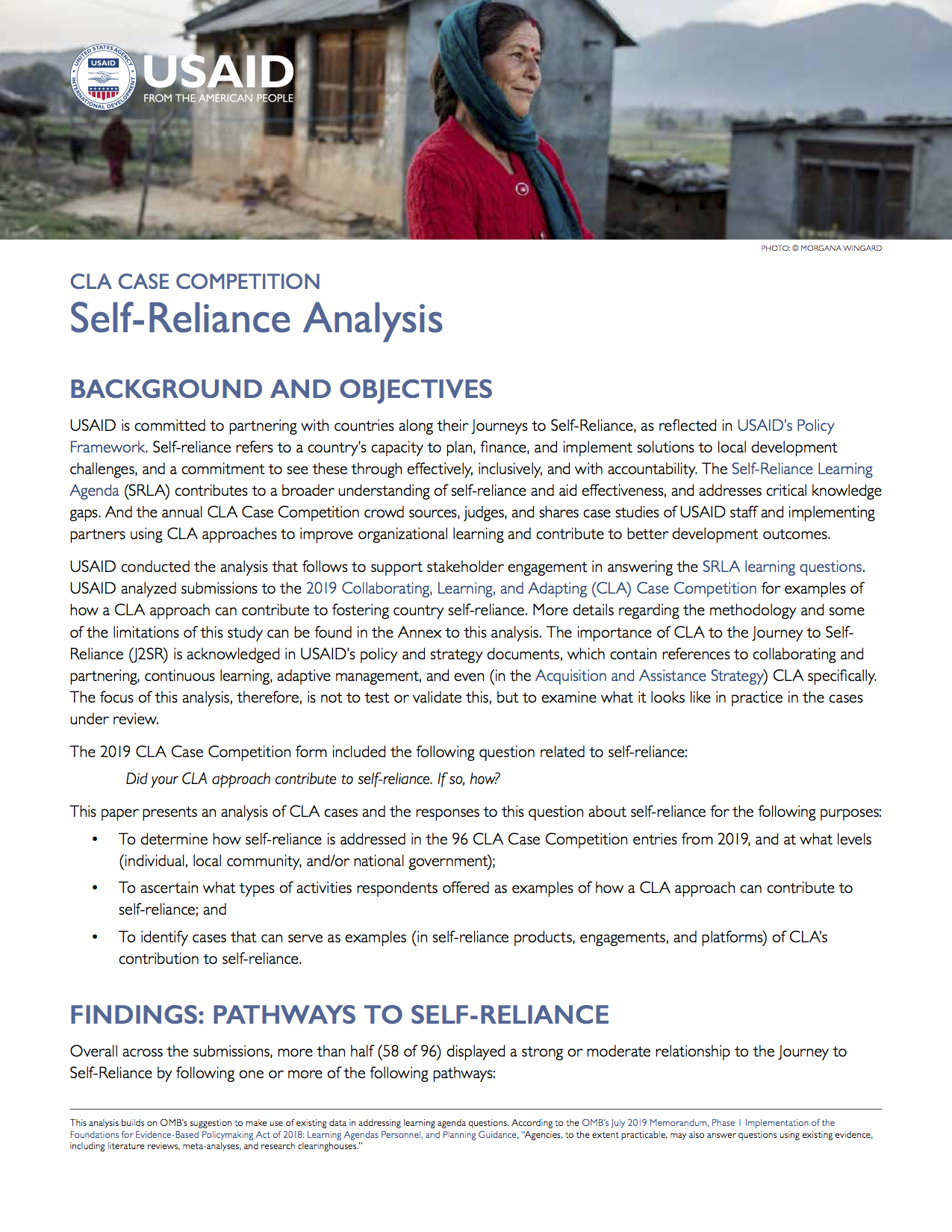 CLA Case Competition Self-Reliance Analysis