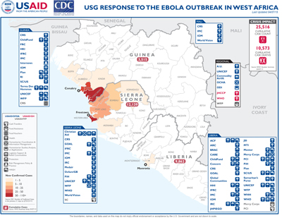West Africa Ebola Map #28 April 7, 2015