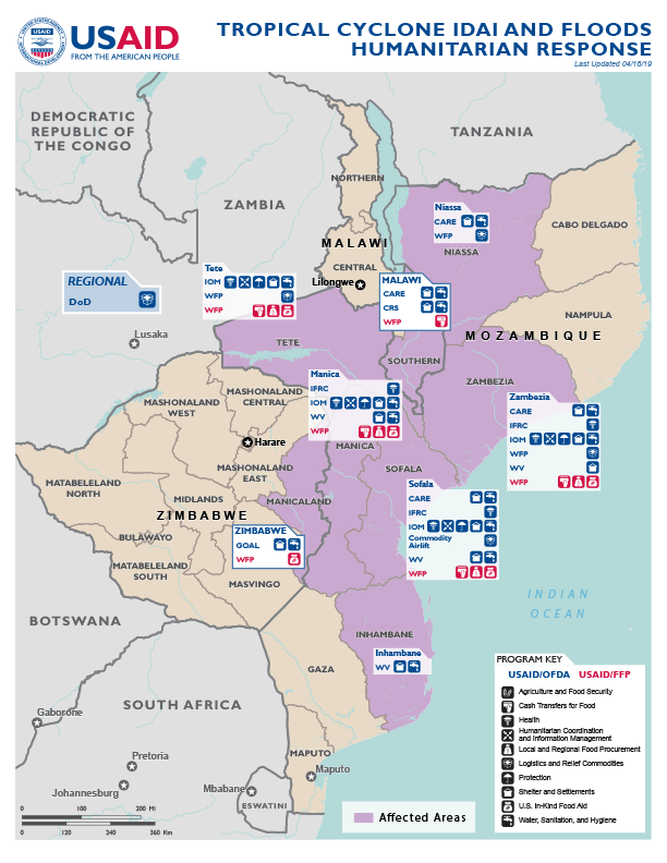 Southern Africa - Tropical Cyclone Idai - Map #8 FY2019