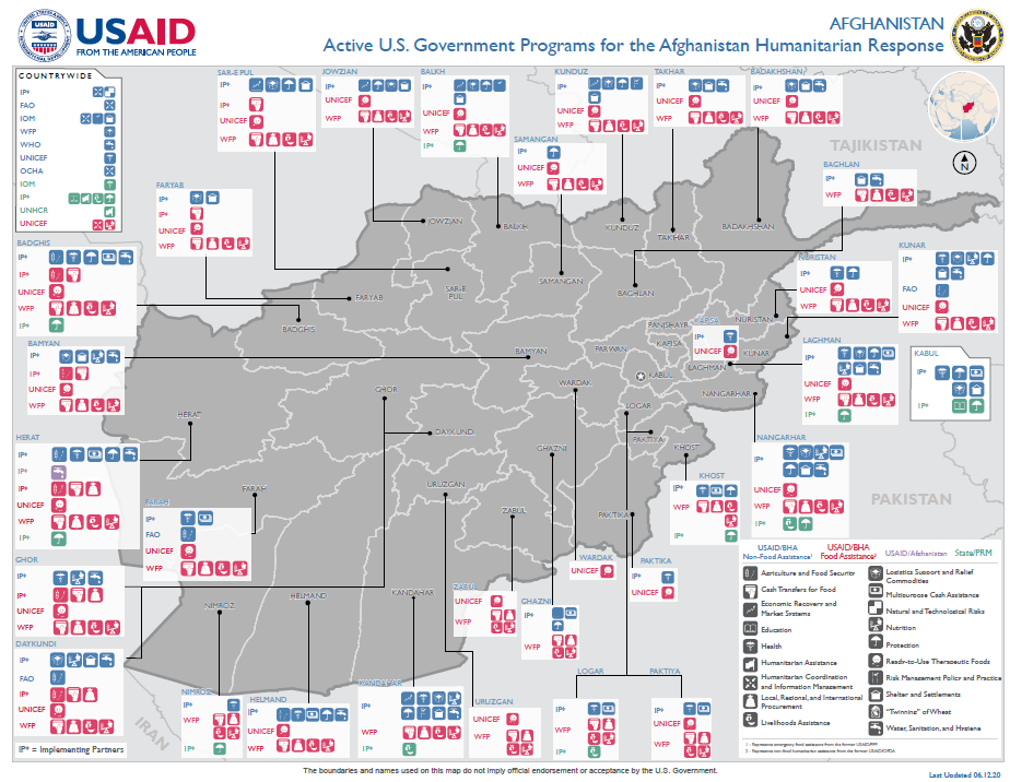 Active USG Programs for the Afghanistan Response - 06-12-2020