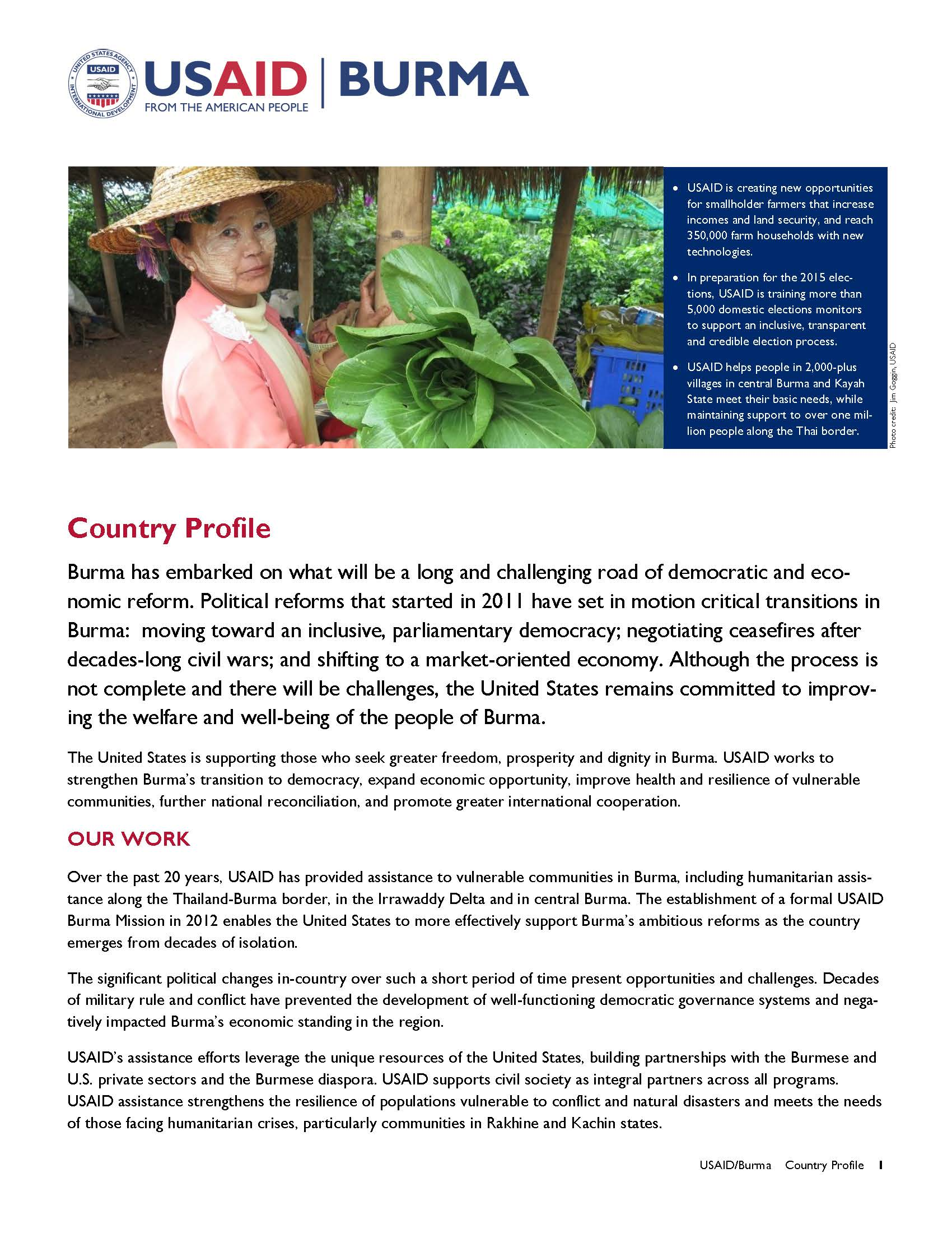 2015 Burma Country Profile