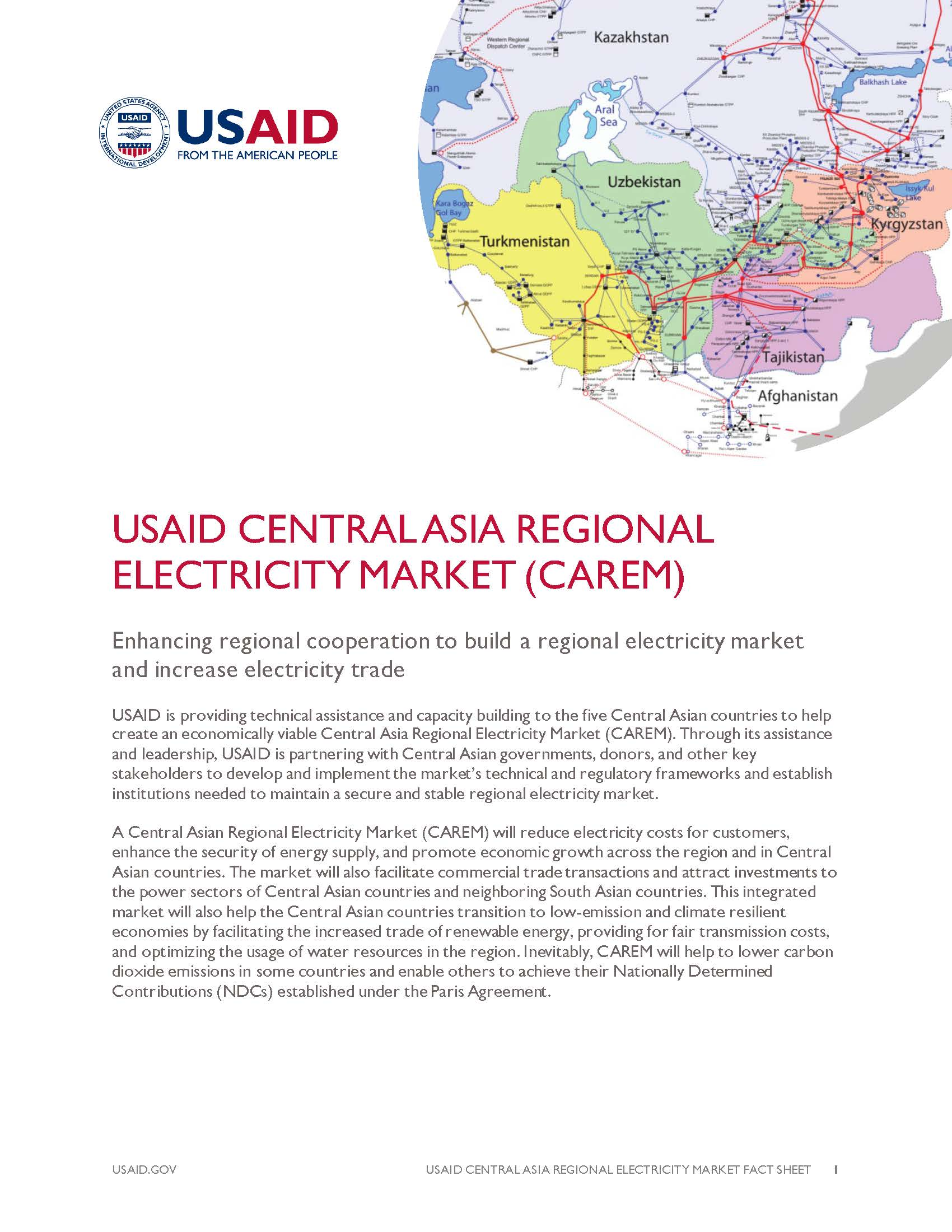 USAID's Central Asia Regional Electricity Market