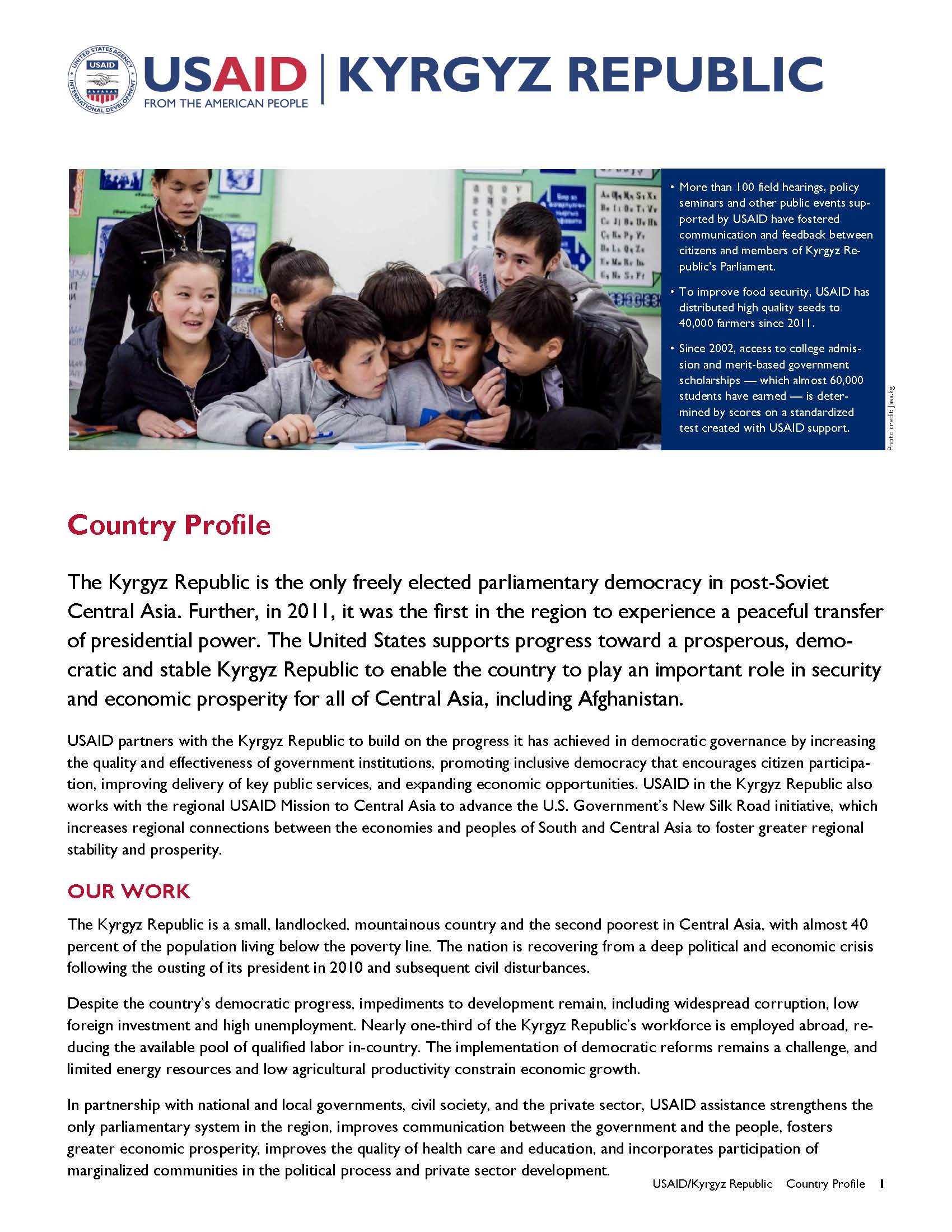 Kyrgyz Republic Country Profile 2014