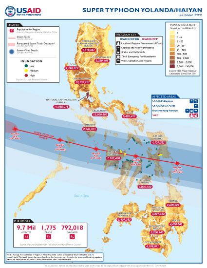 Super Typhoon Haiyan Map - 11/11/2013
