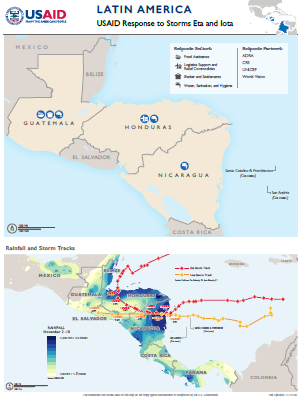 11.19.2020 Latin American Storms Complex Emergency Program Map