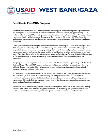 Fact Sheet: Mini-MBA Program - PDF Version