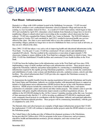 Fact Sheet: Infrastructure - PDF Version