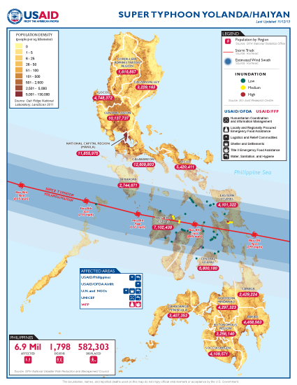 Typhoon Haiyan/Yolanda Map - 11/12/13 - Click to view full-size map