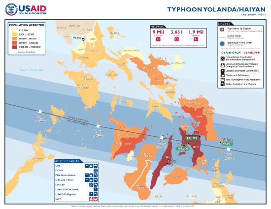Typhoon Haiyan / Yolanda Map - 11/15/2013 (Click to view full-size map)