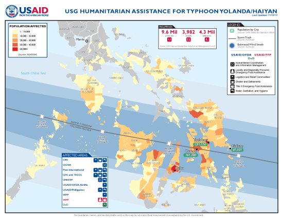 Typhoon Haiyan / Yolanda Map - 11/19/2013 (Click to view full-size map)