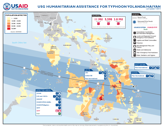 Typhoon Haiyan / Yolanda Map - 11/29/2013 (Click to view full-size map)