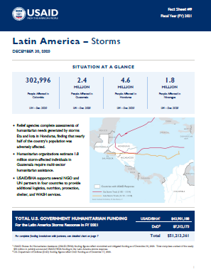 12.30.2020 - USAID-BHA Latin America Storms Fact Sheet #9