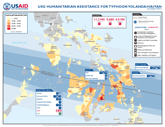 Typhoon Haiyan / Yolanda Map - 12/03/2013 (Click to view full-size map)