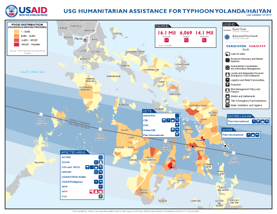 Typhoon Haiyan / Yolanda Map - 12/18/2013 (Click to view full-size map)