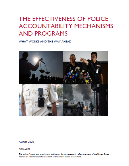 Effectiveness of Police Accountability Mechanisms and Programs