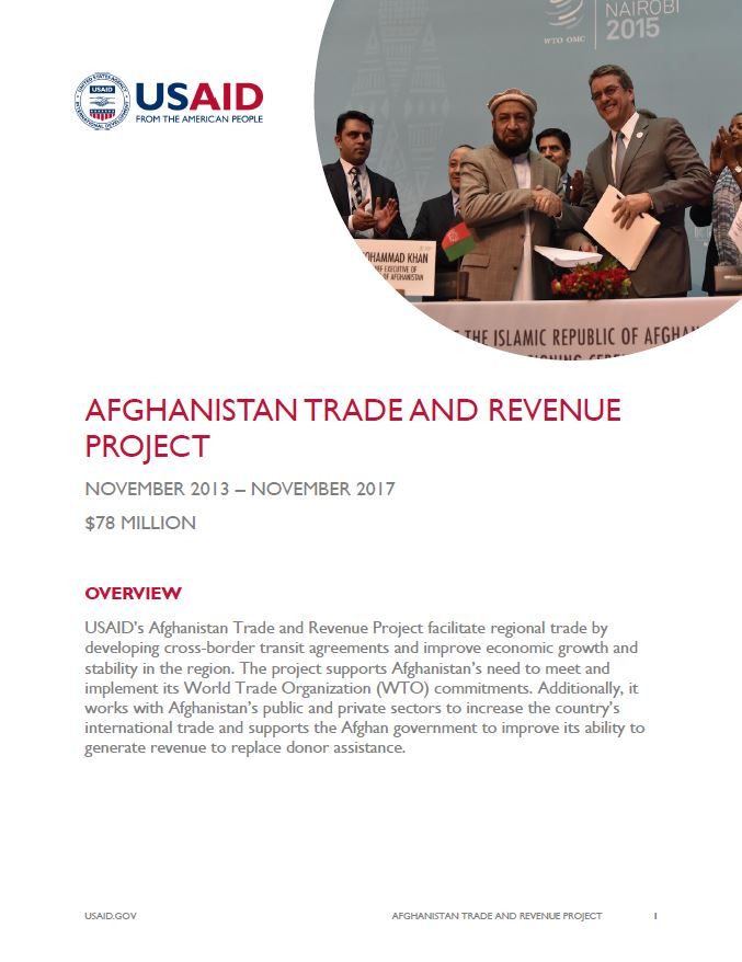 Afghanistan Trade and Revenue Project (ATAR)