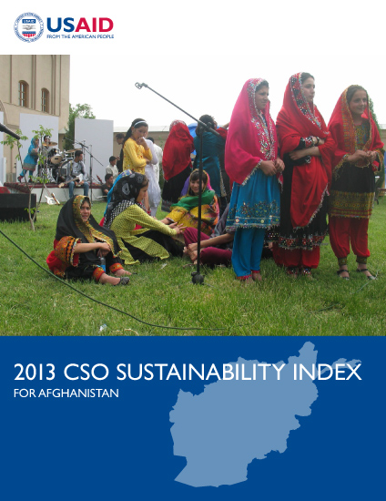 2013 CSO Sustainability Index (CSOSI) for Afghanistan