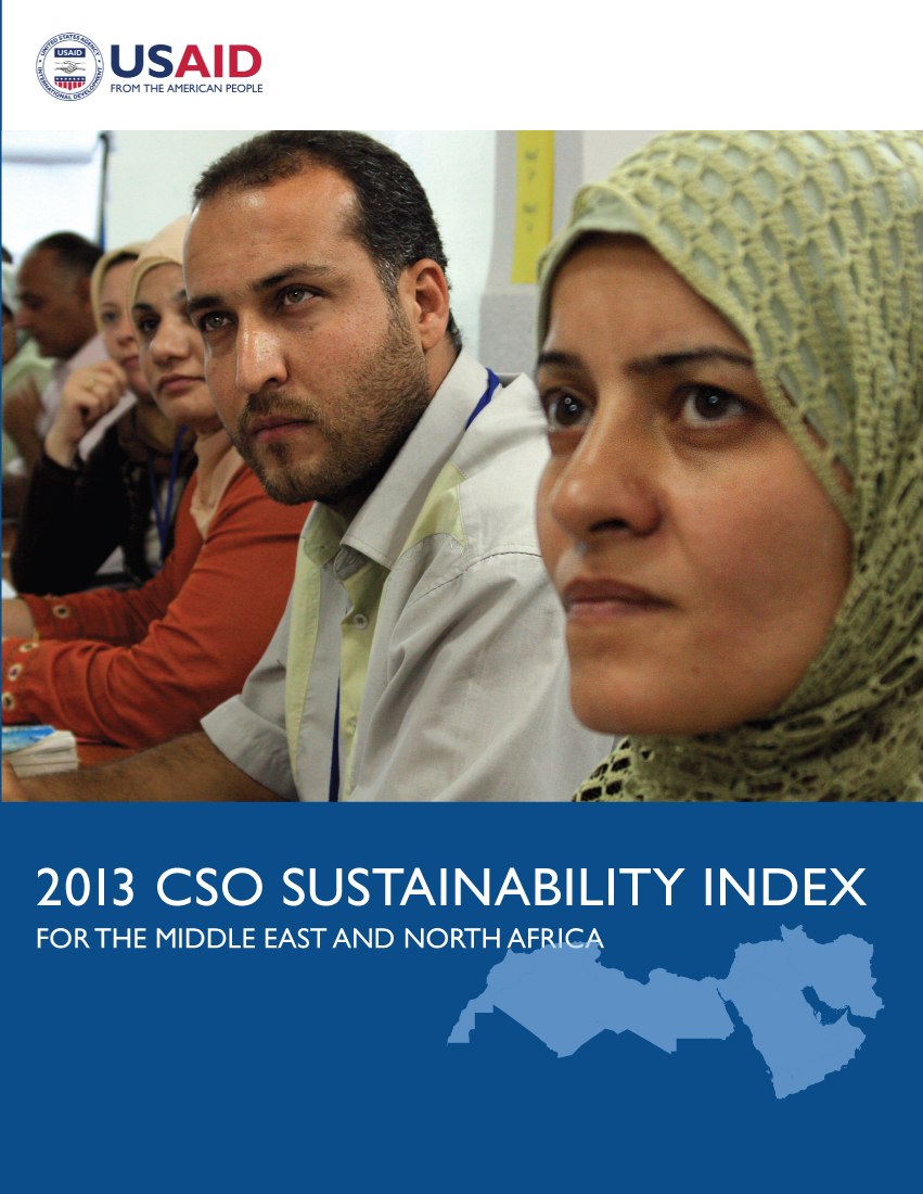 2013 Middle East and North Africa Civil Society Sustainability Index (CSOSI)
