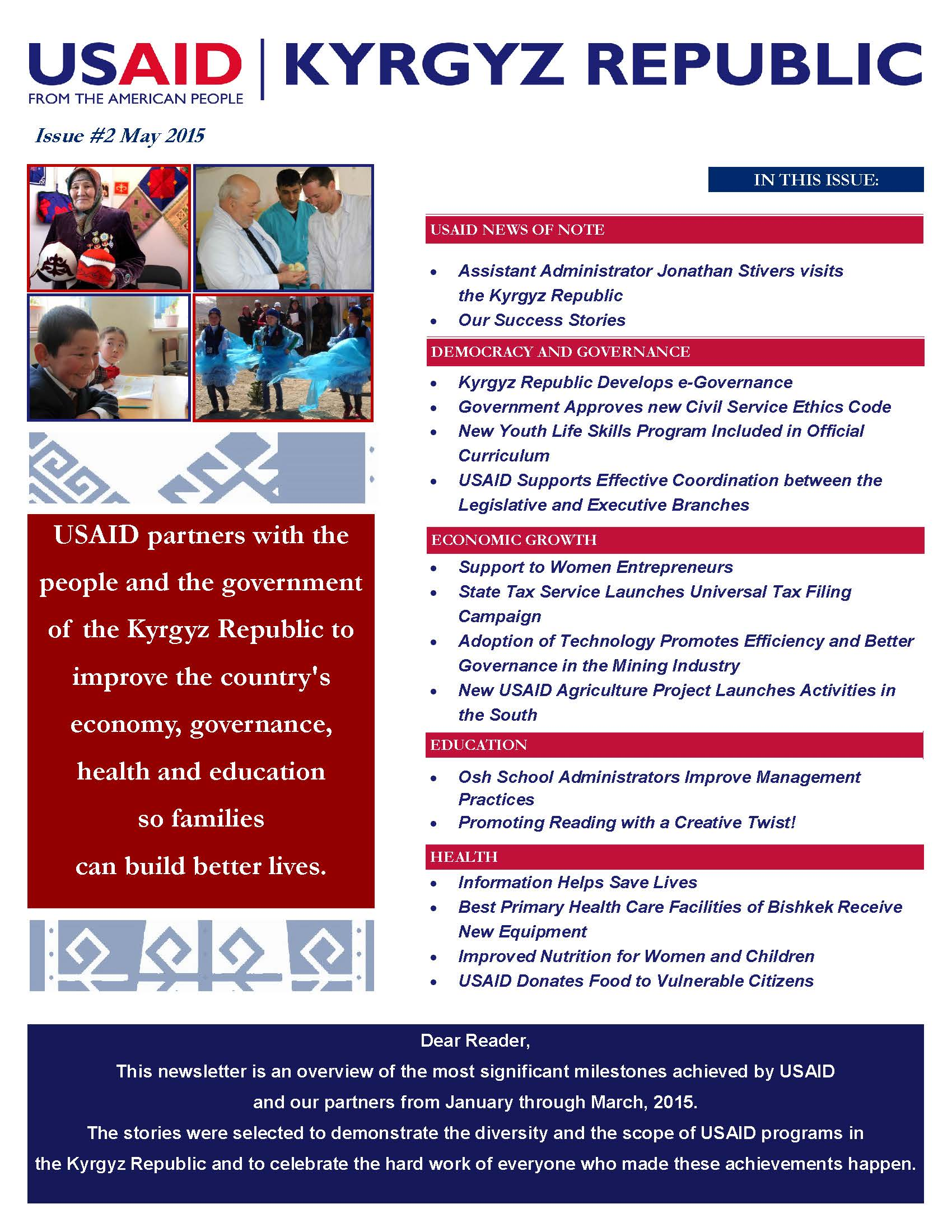 USAID Kyrgyz Republic Quarterly Newsletter, Issue 2