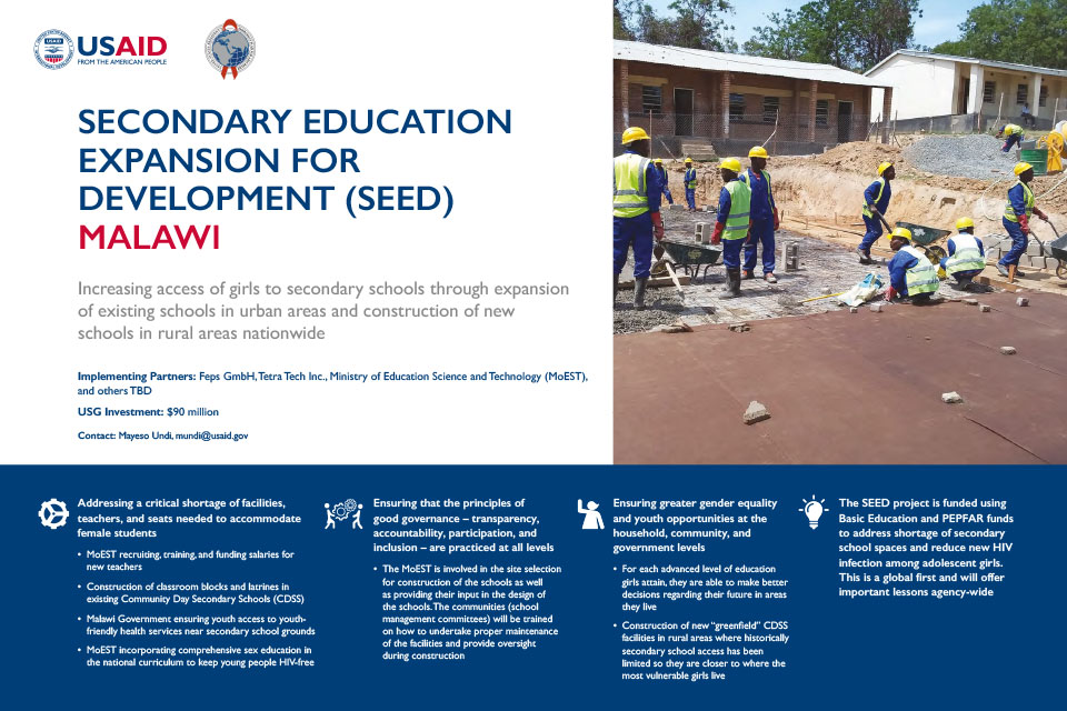 Secondary Education Expansion for Development (SEED), Malawi