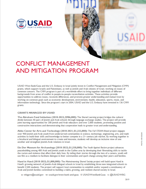 2019 Conflict Management and Mitigation Program Fact Sheet