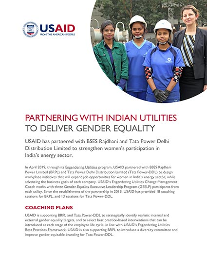 Partnering with Indian Utilities to Deliver Gender Equality