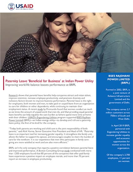 Paternity Leave 'Beneficial for Business' at Indian Power Utility