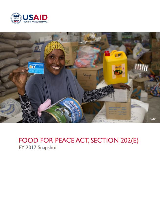 Food for Peace Act, Section 202(E) FY 2017 Snapshot