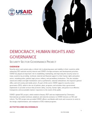 Democracy, Human Rights and Governance - Security Sector Reform
