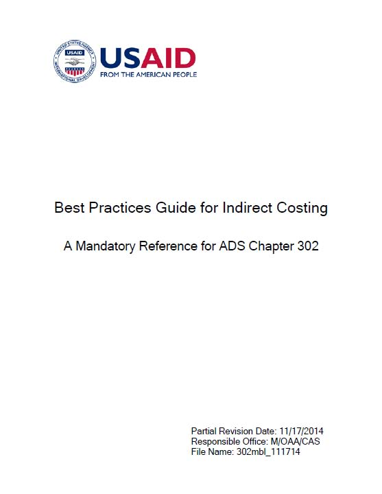 Best Practices Guide For Indirect Costing A Mandatory Reference
