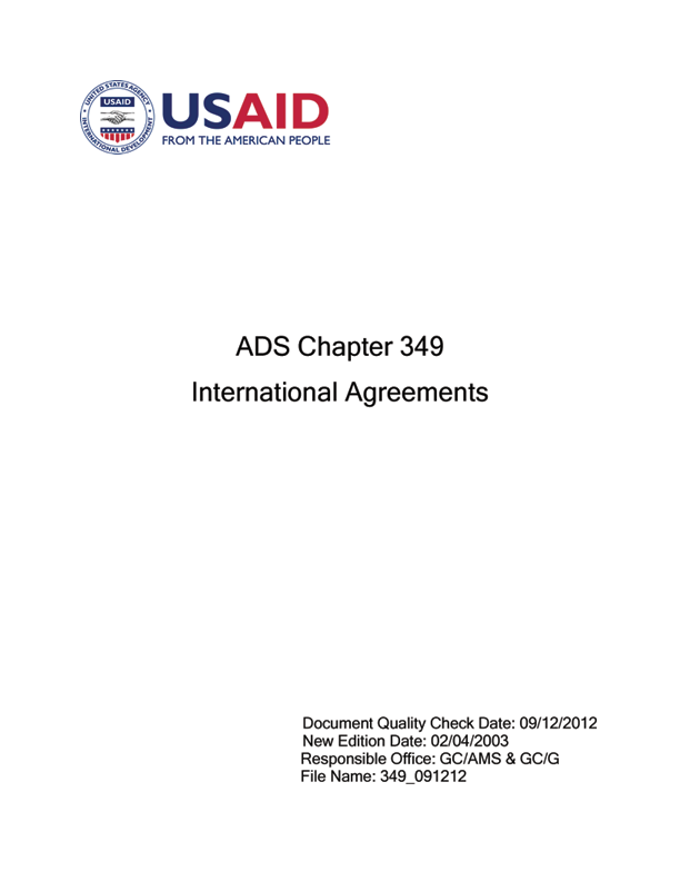 Ads 349 International Agreements