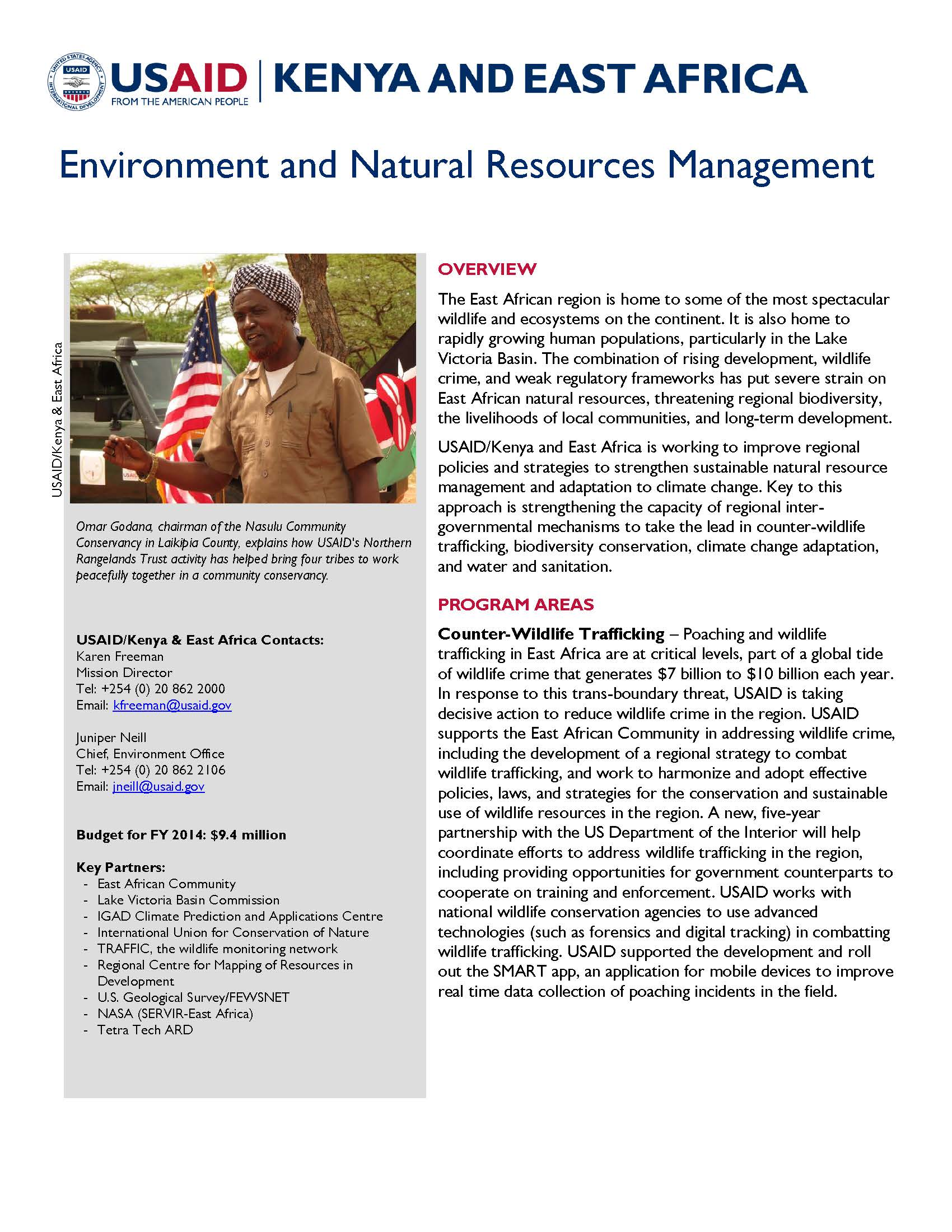 Environment and Natural Resources Management Fact Sheet