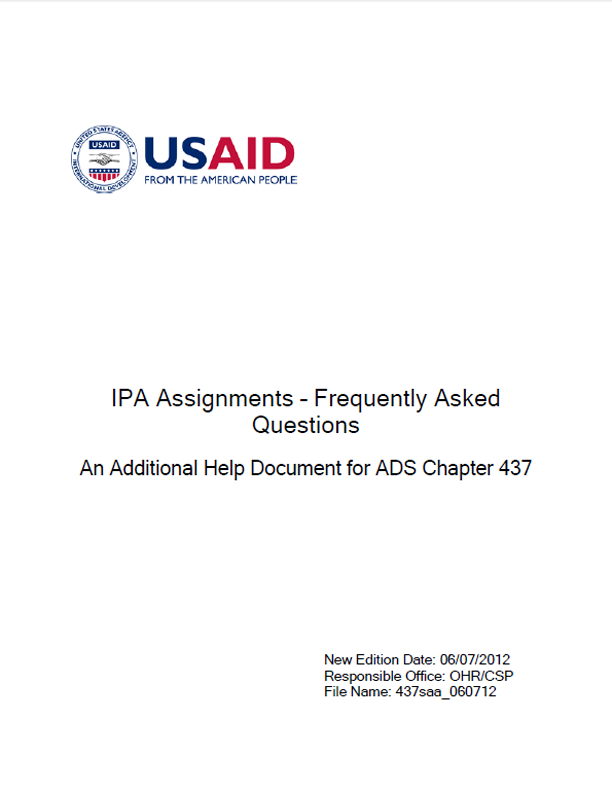 Ipa Assignments Frequently Asked Questions
