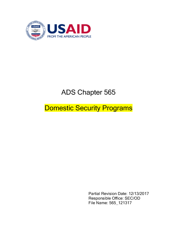 Ads 565 Domestic Security Programs Domestic