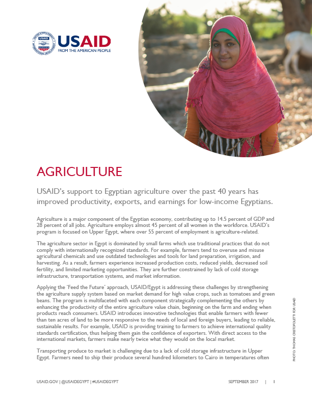 USAID/Egypt: Agriculture and Food Security - September 2017