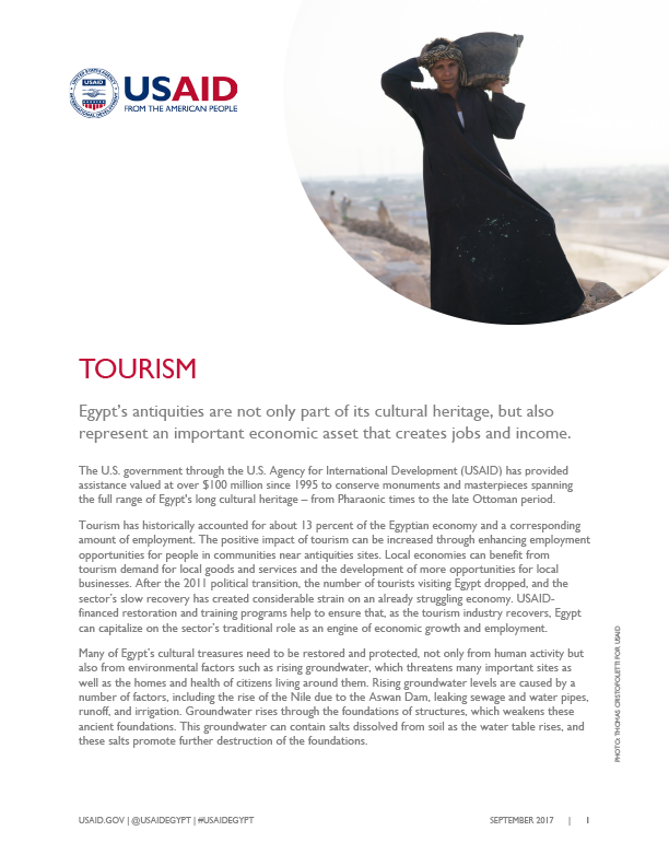 USAID/Egypt's current activities in the Tourism sector.