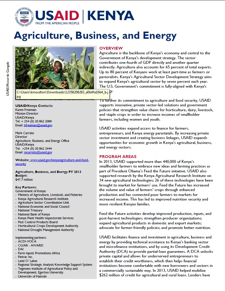 Agriculture, Business, and Energy Fact Sheet_September 2014