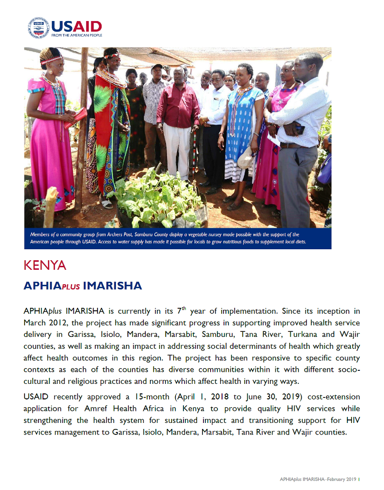 APHIAplus IMARISHA fact sheet