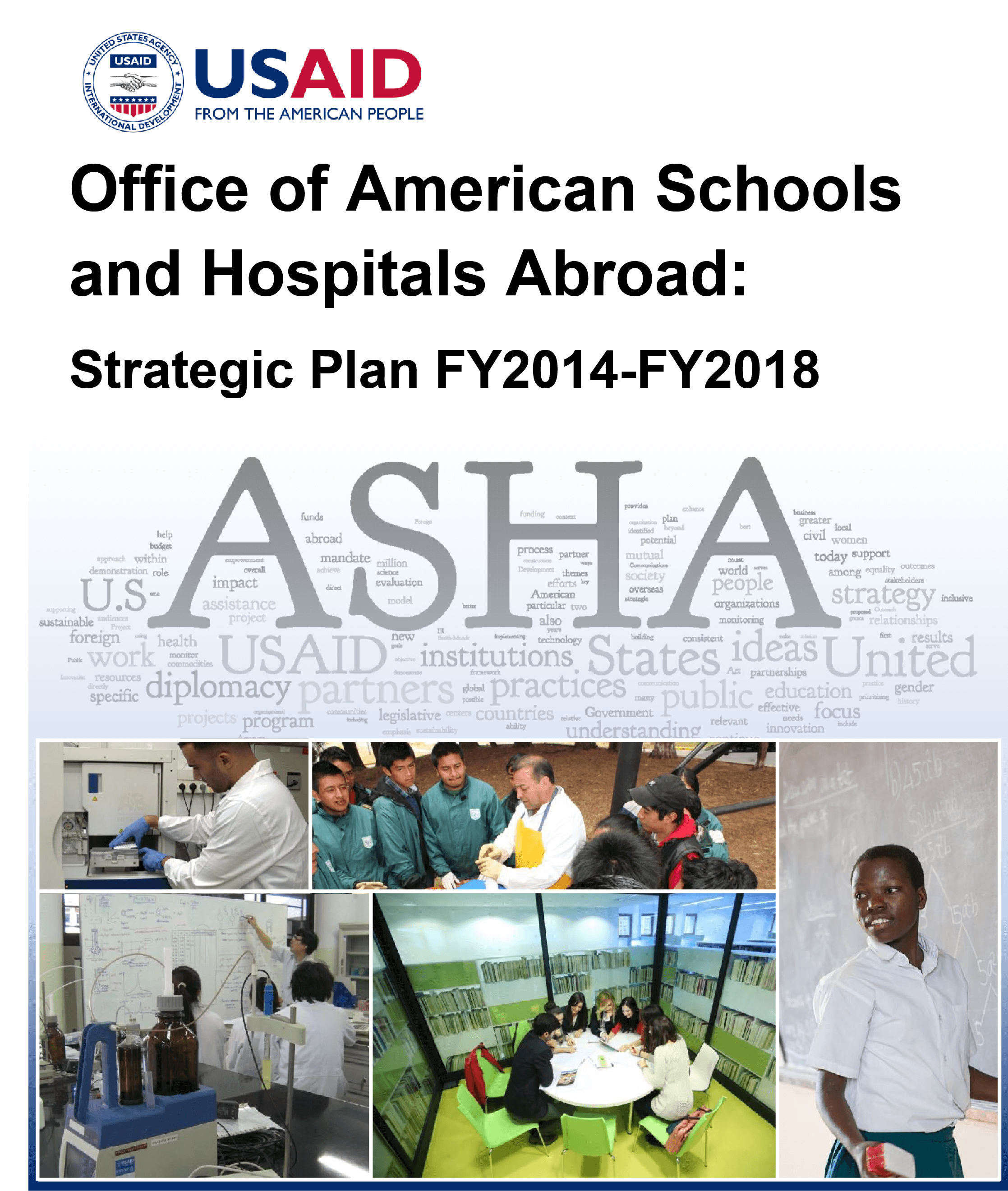 USAID/ASHA Strategic Plan for Fiscal Years 2014-2018