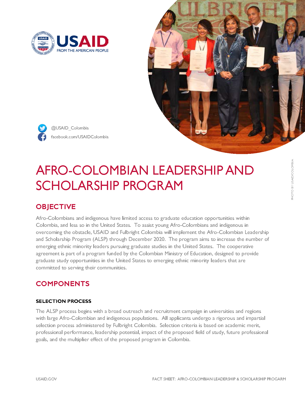 Afro-Colombian Leadership and Scholarship Program