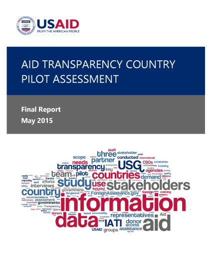 Aid Transparency Country Pilot Assessment