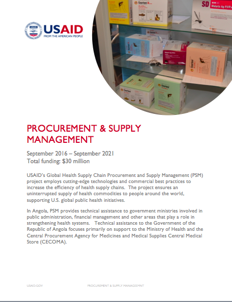 Global Health Supply Chain Procurement and Supply Management project Fact Sheet