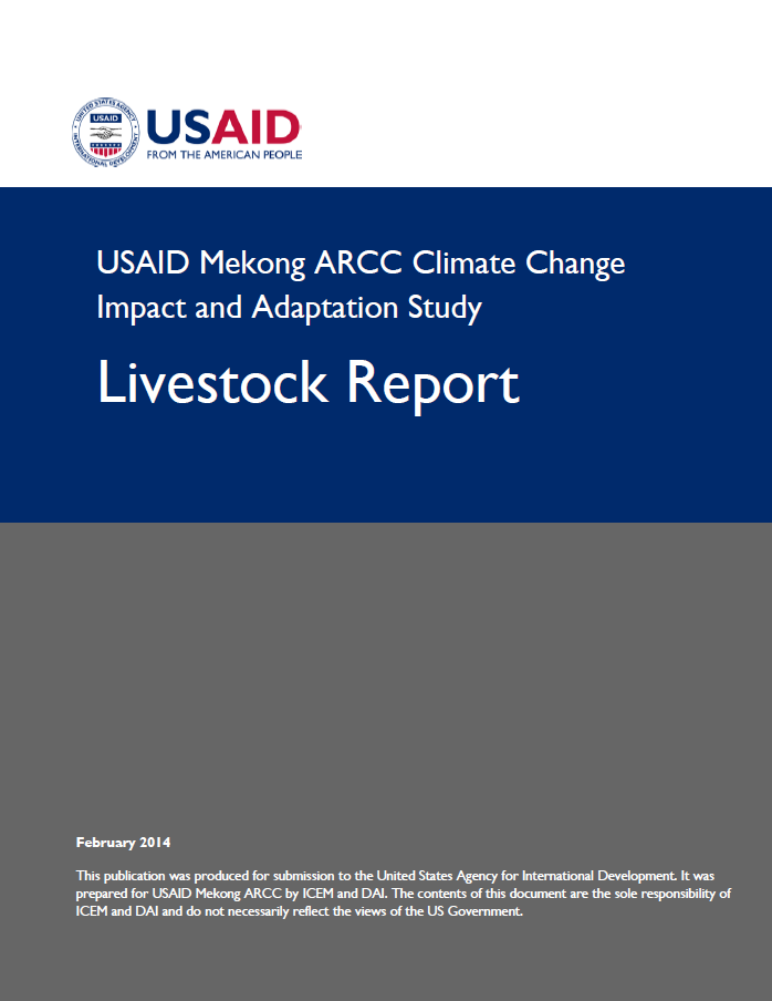 USAID Mekong ARCC Climate Change Impact and Adaptation Study - Livestock Report