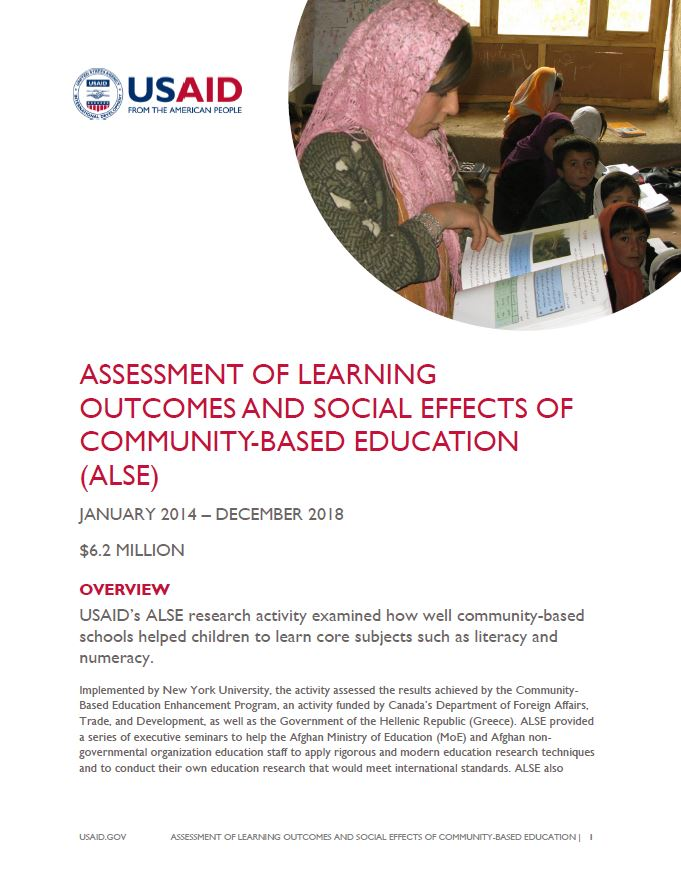 Assessment of Learning Outcomes and Social Effects of Community-Based Education (ALSE)
